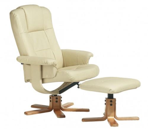 Keveset használt, újszerű textilbőr fotel lábtartóval ELADÓ