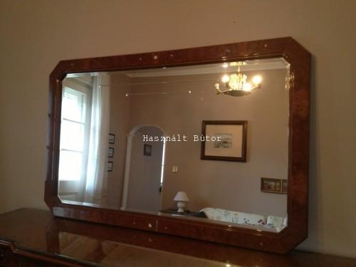 Intarziás olasz csiszolt tükör - Használt bútor