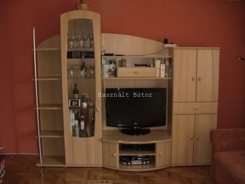 Bükk színű nappali szekrénysor - Használt bútor